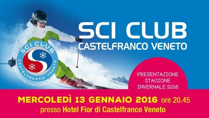 Presentazione stagione invernale 2016 per lo Sci Club Castelfranco