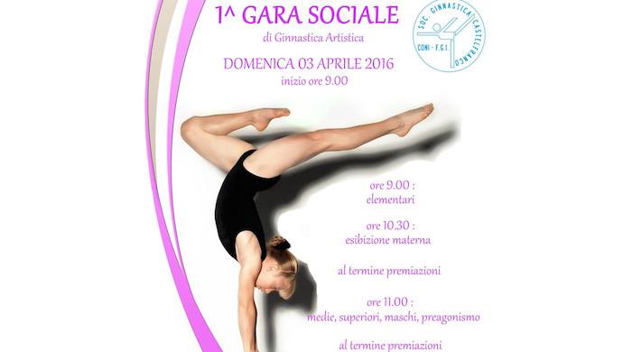 Gara di ginnastica artistica domenica 3 aprile al Palavenale