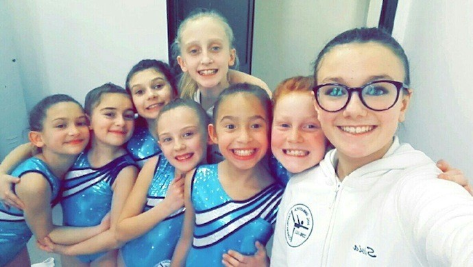 Ginnastica artistica: prima gara per 7 ragazze della Ginnastica Castelfranco