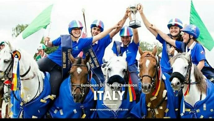 Oro Europeo a squadre U17 per Elena Maggiolo del Circolo Ippico Castellano