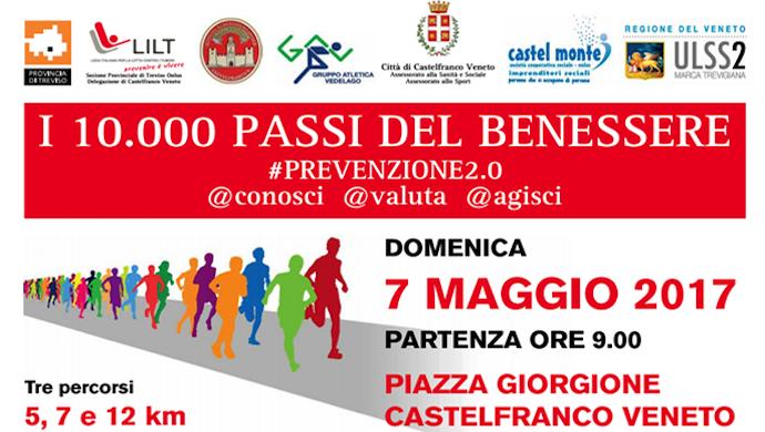 I 10.000 Passi del Benessere: domenica 7 maggio a Castelfranco