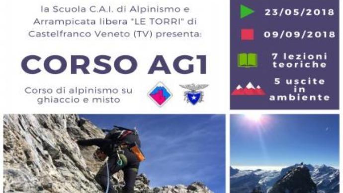 CAI Castelfranco: Corso AG1 di Alpinismo su ghiaccio e misto