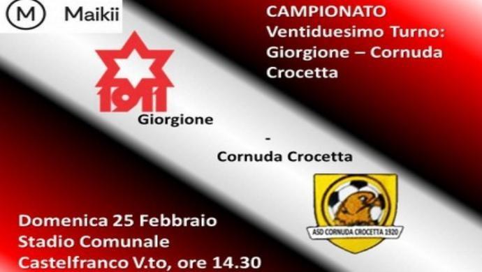 Giorgione Calcio, dopo la sosta c'è il Cornuda Crocetta al Comunale