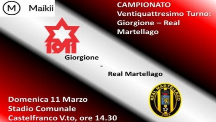 Giorgione Calcio, col Real Martellago vietato sbagliare