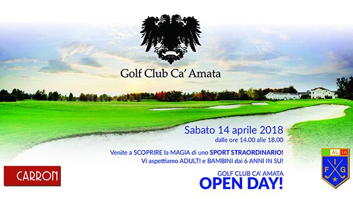 Open Day sabato 14 aprile al Golf Club Ca' Amata, lezioni gratuite