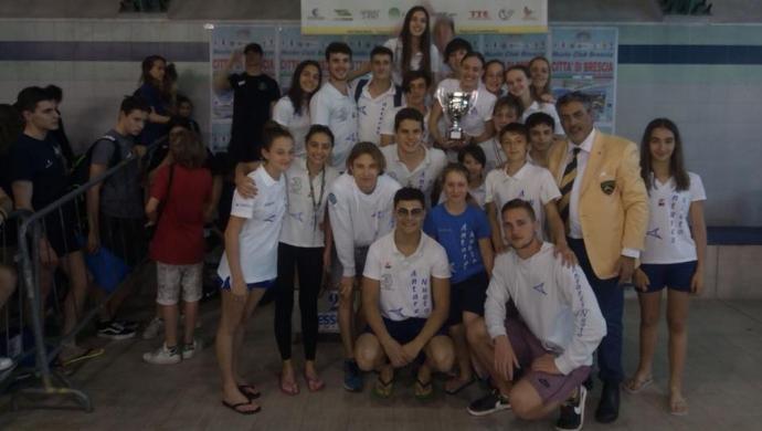 Antares Nuoto, prima uscita in vasca lunga al Città di Brescia