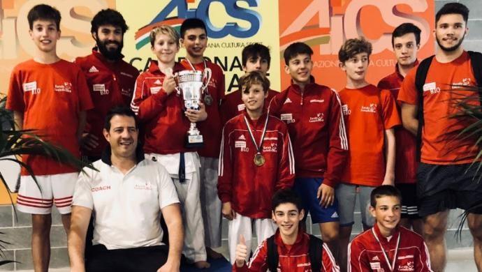 Il Germinal Karate Castelfranco unica società del nord italia nel podio nazionale