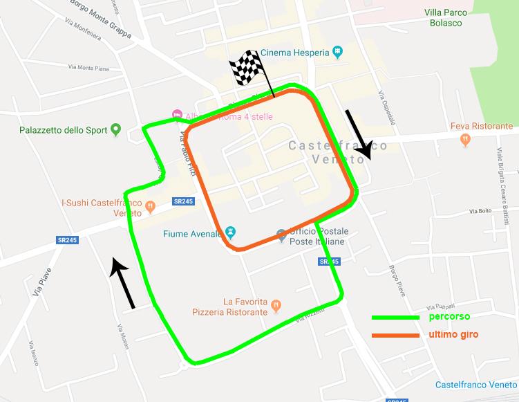 mappa ciclismo