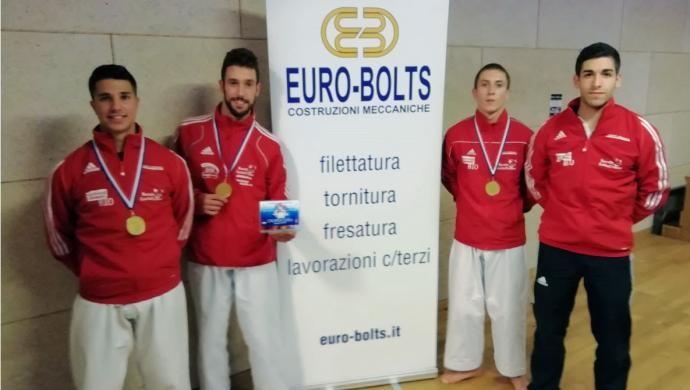 La Sport Target ai Cro Open: oro per la squadra Senior di Kata